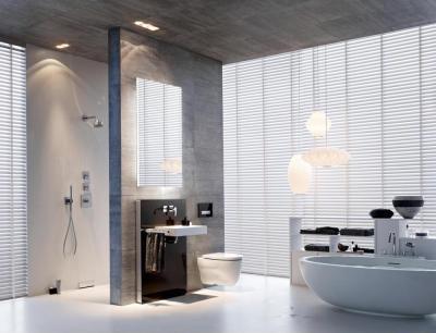 látszó beton a fürdőben - fürdő / WC ötlet, modern stílusban