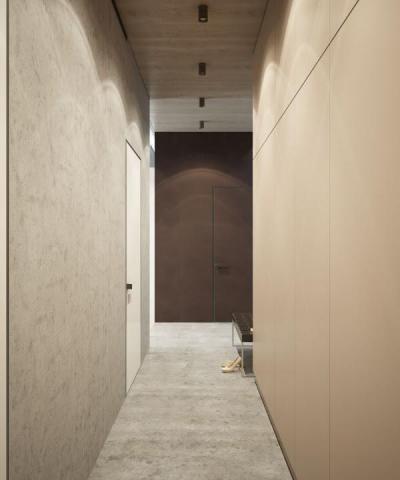 Minimalista előszoba - belső továbbiak ötlet, minimál stílusban
