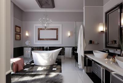 Modern fürdő art deco hangulat homeinfo
