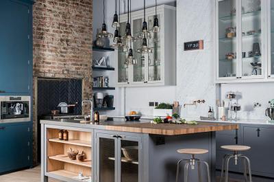 Konyhasziget függő lámpákkal - konyha / étkező ötlet, modern stílusban