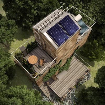 Ökoház - tető ötlet