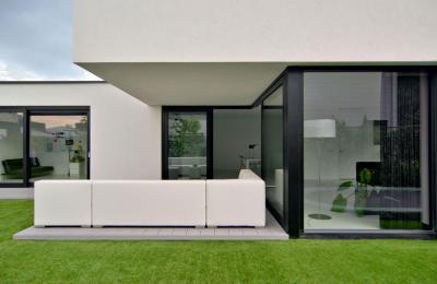 Geometrikus formák - erkély / terasz ötlet, minimál stílusban