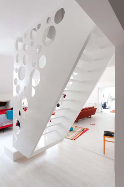 Ementáli lépcső - belső továbbiak ötlet, modern stílusban