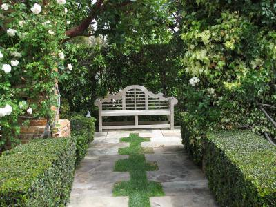 pihenő a kert végében - kert / udvar ötlet, klasszikus stílusban