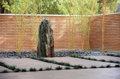 bambuszok minimál kertben - kert / udvar ötlet