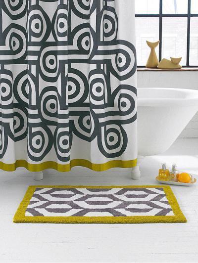fehér fürdő nagy,mintás kiegészítők - fürdő / WC ötlet