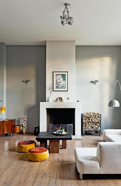 Barátságos nappali - nappali ötlet, modern stílusban