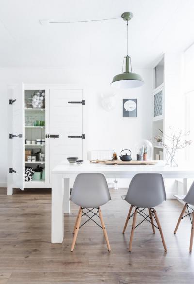 Skandináv stilusú étkező - konyha / étkező ötlet, modern stílusban