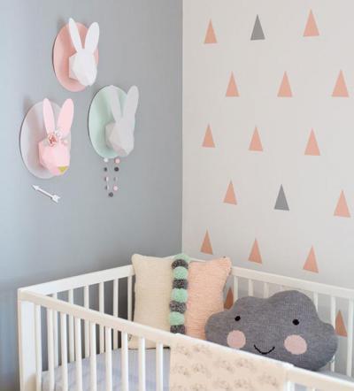 Pasztell színek a babaszobában - gyerekszoba ötlet, modern stílusban
