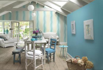 egy kis kék a tetőtérben - tetőtér ötlet, rusztikus stílusban