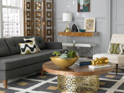 Geometrikus design - nappali ötlet, modern stílusban