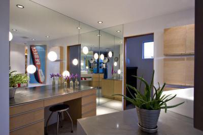 Tükörfal - belső továbbiak ötlet, modern stílusban