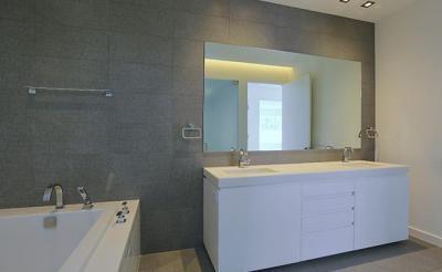 Minimál fürdőszoba - fürdő / WC ötlet, modern stílusban