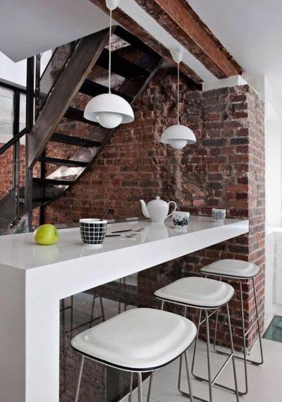 Téglafal a konyhában 2 - konyha / étkező ötlet, modern stílusban