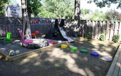 Gyerekbirodalom a kertben - kert / udvar ötlet, modern stílusban