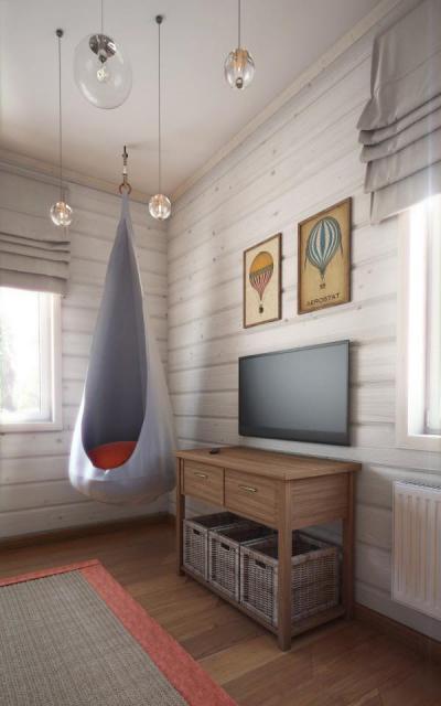 Laza sarok - gyerekszoba ötlet, modern stílusban