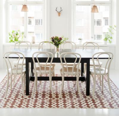 skandináv elemek az étkezőben - konyha / étkező ötlet, klasszikus stílusban