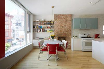 Étkező kilátással - konyha / étkező ötlet, modern stílusban
