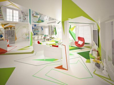 Egyterű nappali - nappali ötlet, modern stílusban