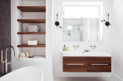 Modern egyszerűség - fürdő / WC ötlet, modern stílusban