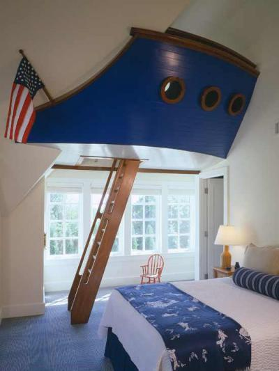 Hajóforma - gyerekszoba ötlet, klasszikus stílusban