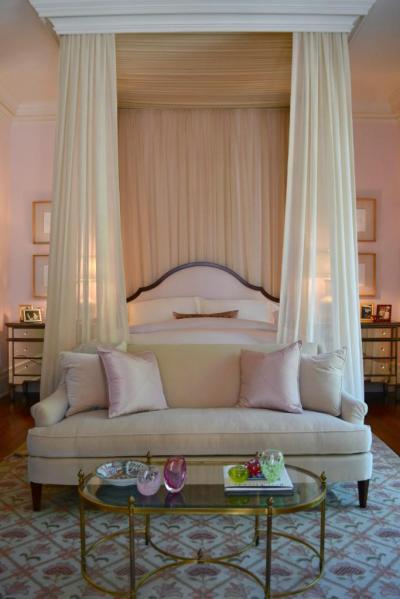 Romantikus hangulatú baldachinos háló - háló ötlet, klasszikus stílusban