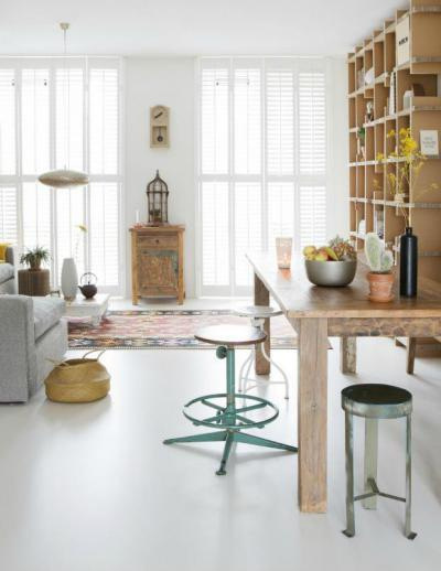 Ruzstikus, modern és ipari - nappali ötlet, modern stílusban