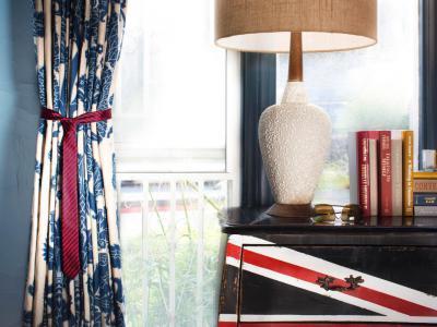 Függönymegkötő nyakkendőből - háló ötlet dafb38e179