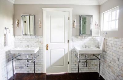 retro hangulat a mosdóban - fürdő / WC ötlet