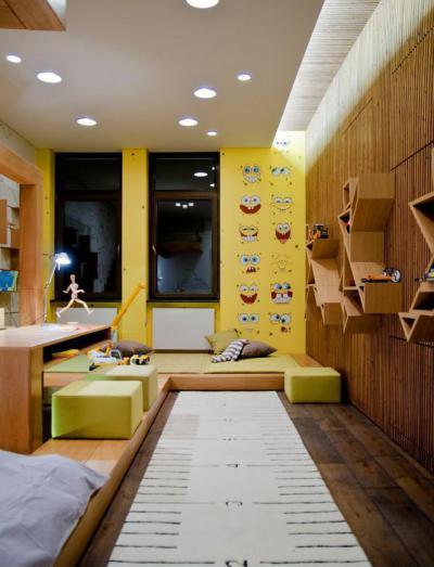 Játékos részletek falmatricával - gyerekszoba ötlet, modern stílusban