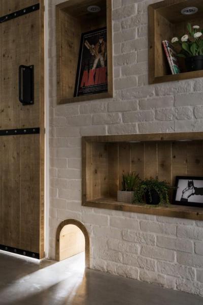 Fakk és cicaátjáró - nappali ötlet, modern stílusban