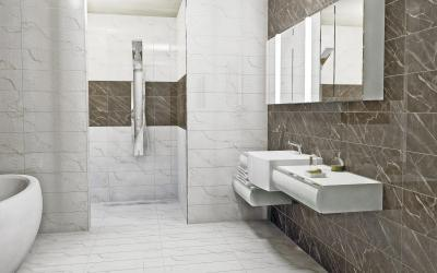 CARRARA fényes falburkoló család - fürdő / WC ötlet, modern stílusban