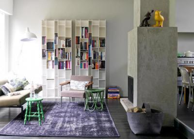 Beton kandalló - nappali ötlet, modern stílusban