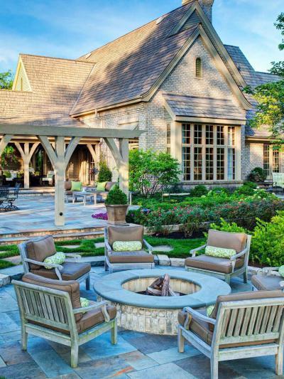 Klasszikus kerti sütögető - külső továbbiak ötlet