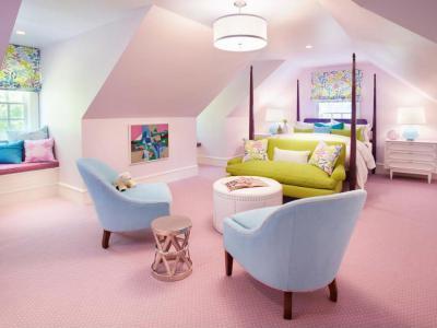 Rózsaszín lányszoba - gyerekszoba ötlet, modern stílusban