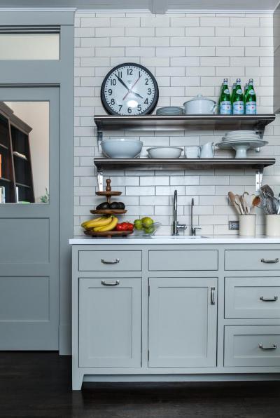 metró csempe a konyháben - konyha / étkező ötlet