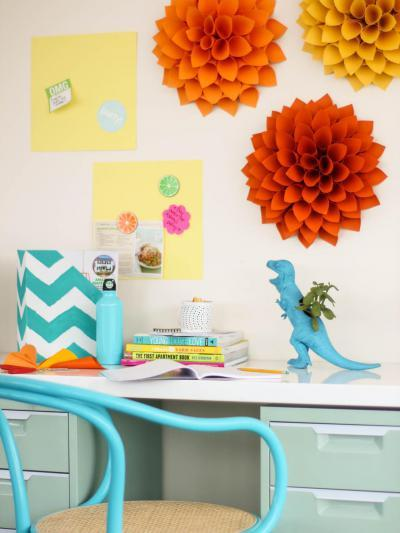 Pasztellszínű dolgozó - dolgozószoba ötlet, modern stílusban