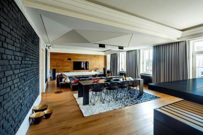 Modern lakás - nappali ötlet, modern stílusban