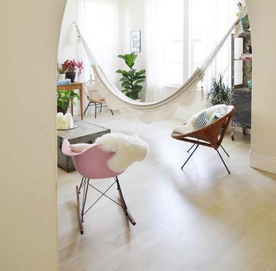 Függőágy a lakásban - belső továbbiak ötlet, modern stílusban
