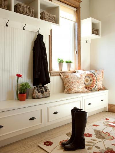 Fehér előszoba - előszoba ötlet, modern stílusban
