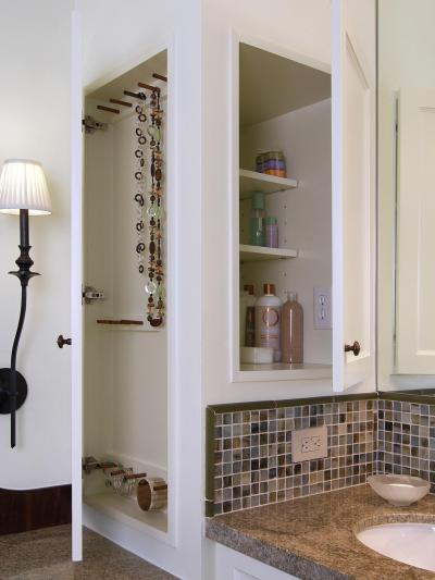 Okos ékszertartó a fürdőben - fürdő / WC ötlet, modern stílusban