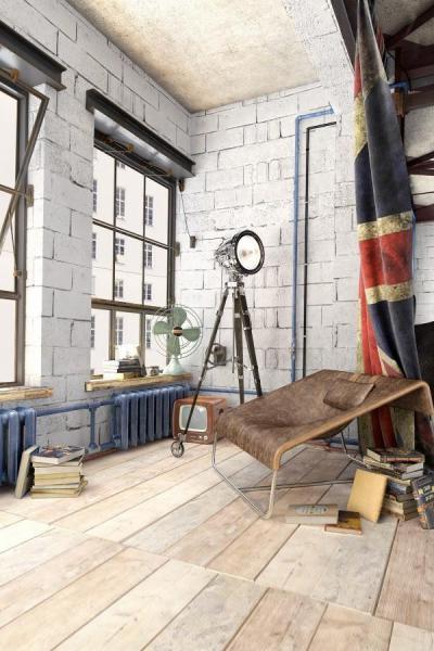 Loft pihenősarok - belső továbbiak ötlet, modern stílusban
