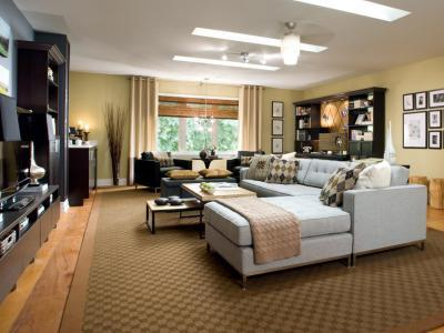Hatalmas sarokkanapé - nappali ötlet, modern stílusban