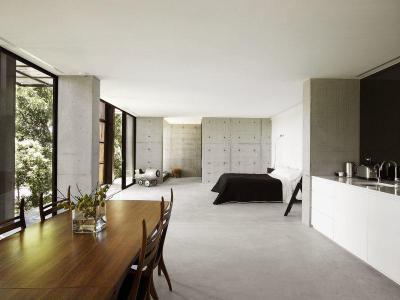 Nagy egybenyitott tér - belső továbbiak ötlet, modern stílusban
