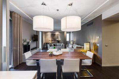 Nappali konyhával - nappali ötlet, modern stílusban