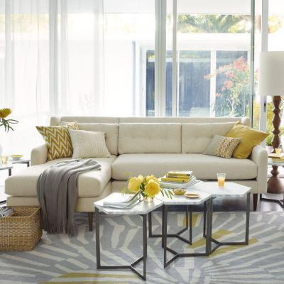 Szögletes, variálható dohányzóasztal - nappali ötlet, modern stílusban