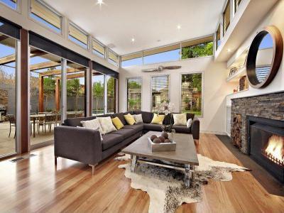 Óriási ablakok31 - nappali ötlet, modern stílusban