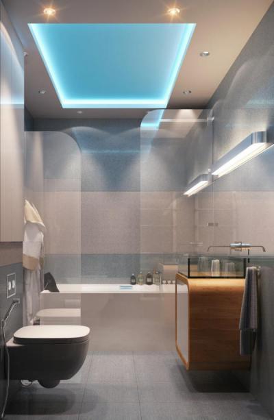 Modern retro - fürdő / WC ötlet, modern stílusban
