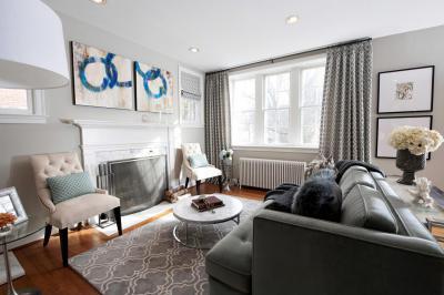 A szürke sok árnyalata a nappaliban - nappali ötlet