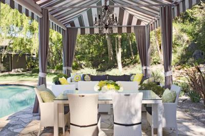 Kerti étkezőasztal - kert / udvar ötlet, modern stílusban